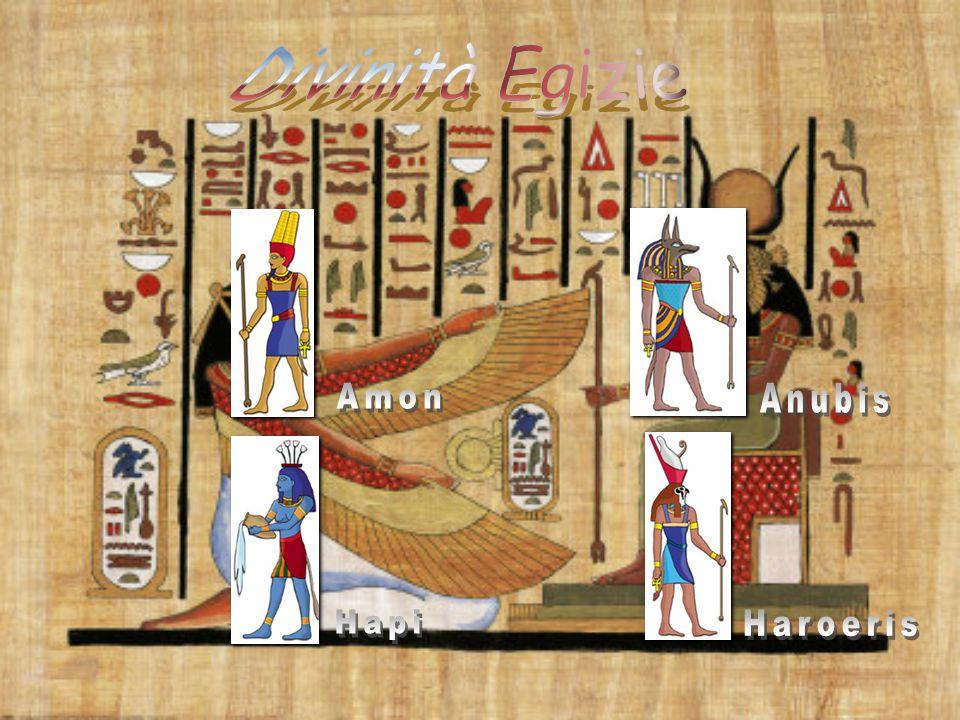 Divinità Egizie Amon Anubis Hapi Haroeris