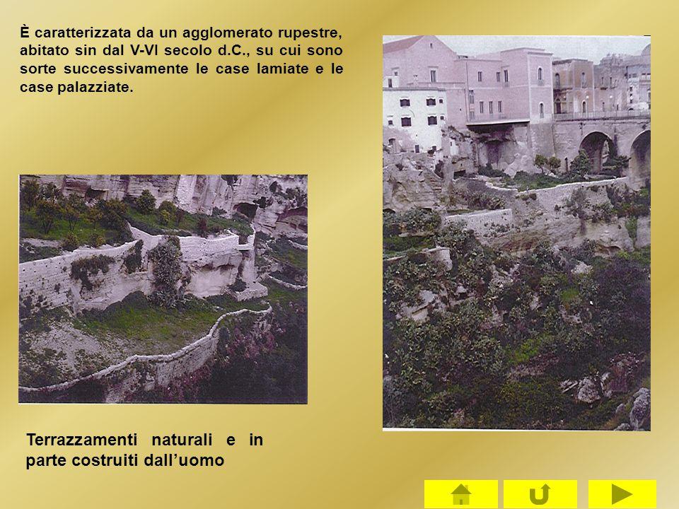 Terrazzamenti naturali e in parte costruiti dall'uomo