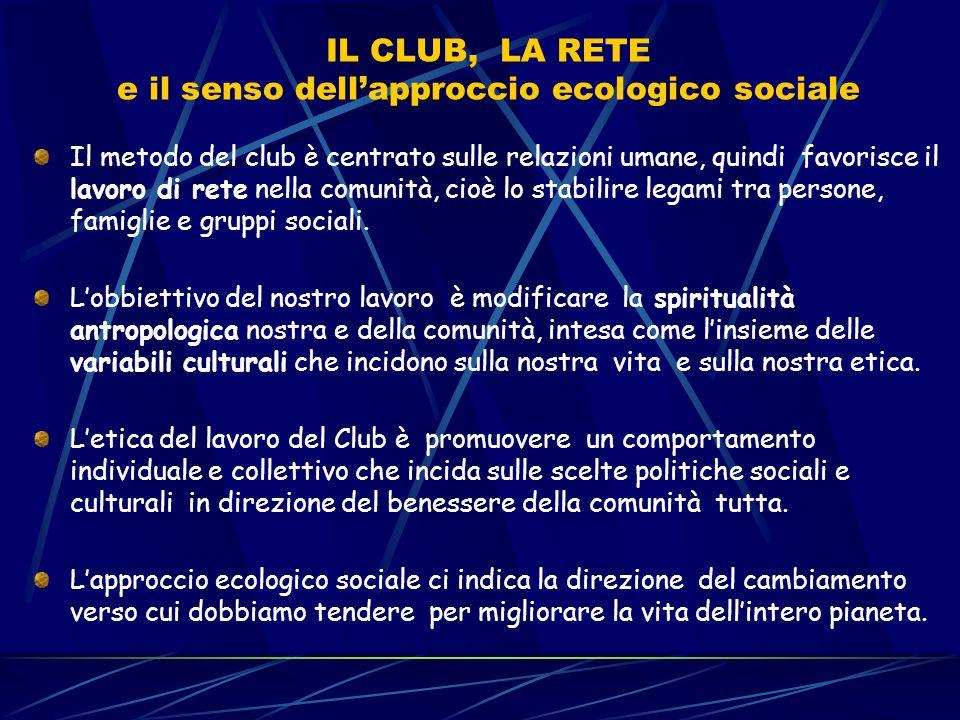 IL CLUB, LA RETE e il senso dell'approccio ecologico sociale