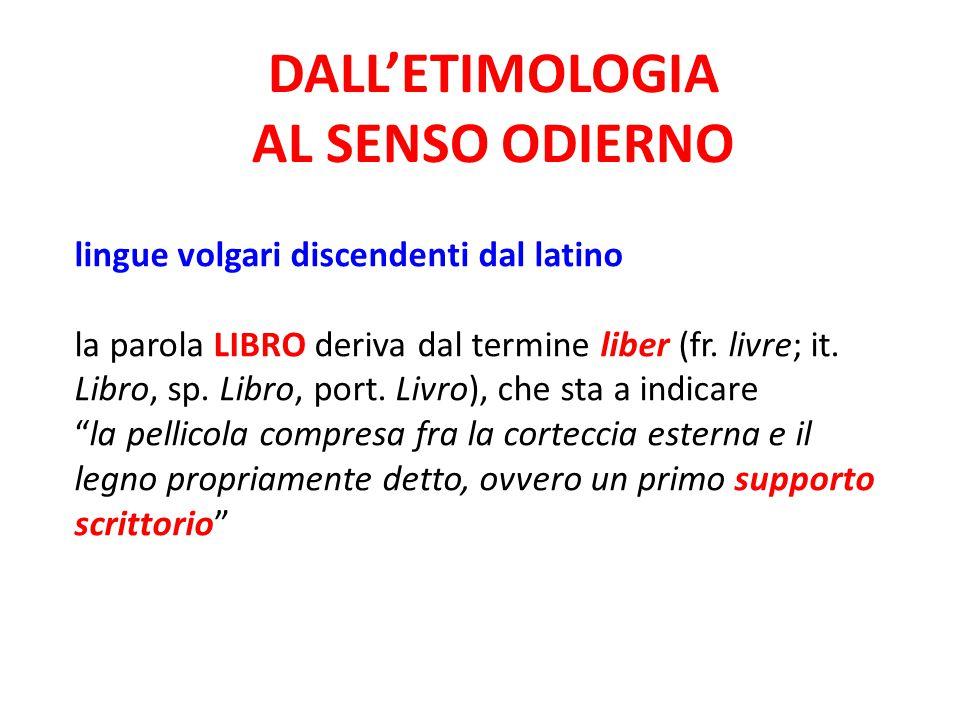 DALL'ETIMOLOGIA AL SENSO ODIERNO