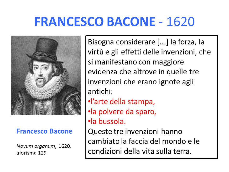 FRANCESCO BACONE - 1620