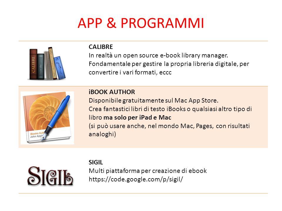 APP & Programmi CALIBRE