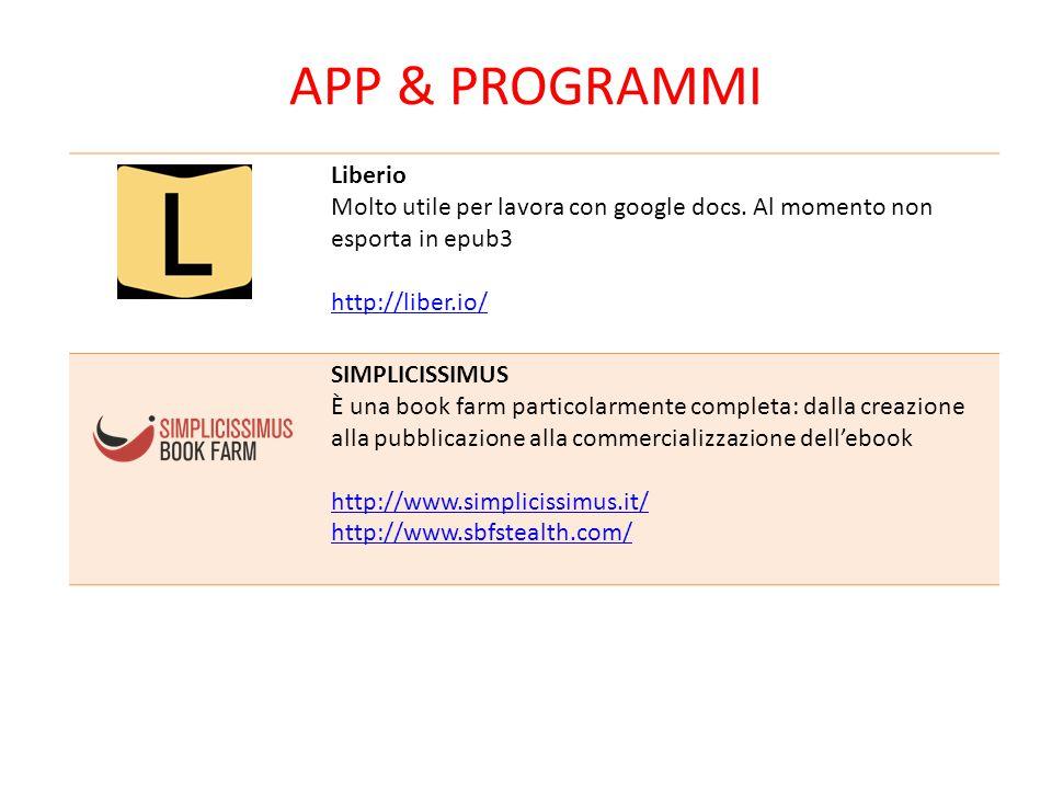 APP & Programmi Liberio