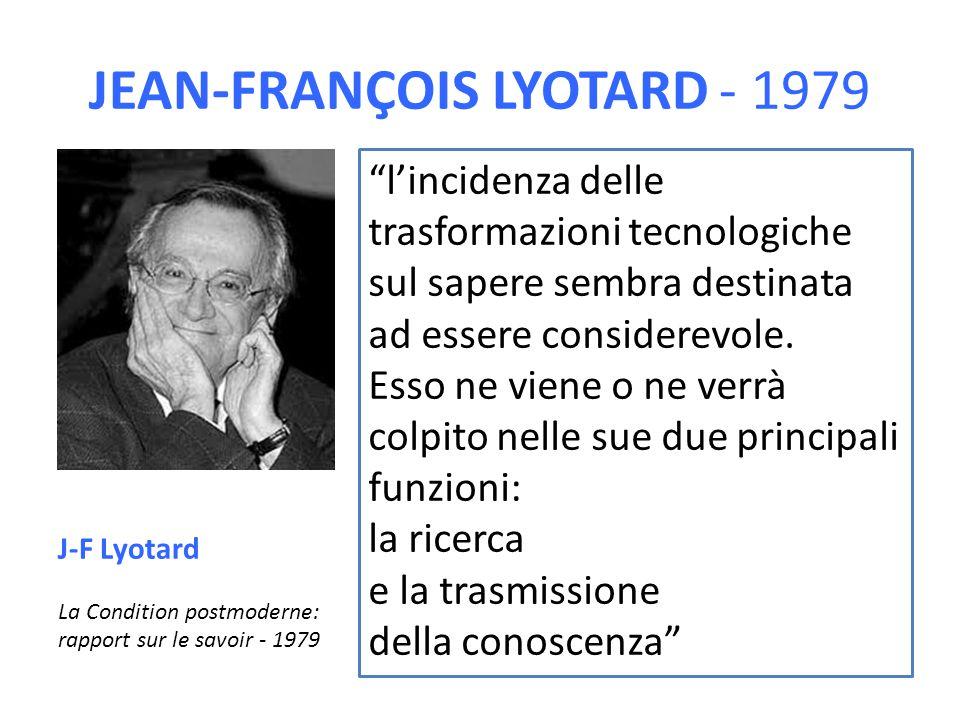 JEAN-FRANÇOIS LYOTARD - 1979