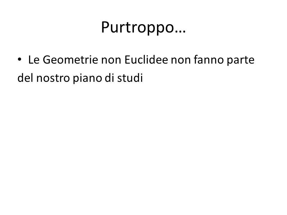 Purtroppo… Le Geometrie non Euclidee non fanno parte