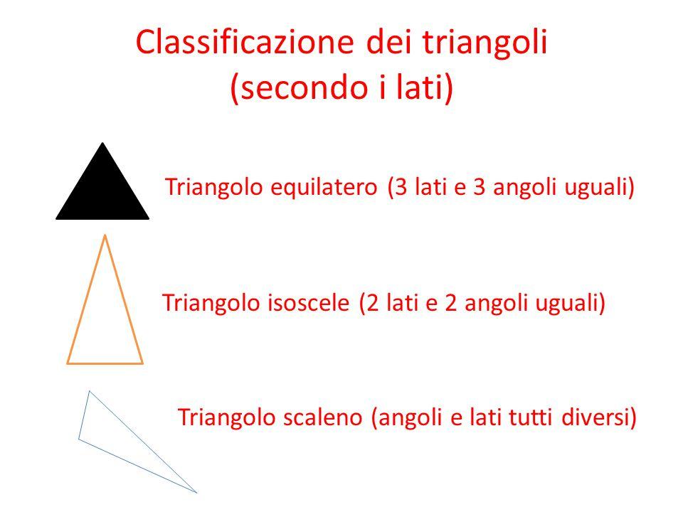 Classificazione dei triangoli (secondo i lati)