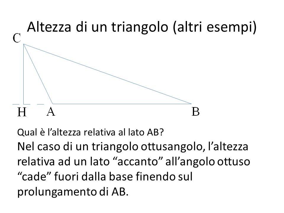 Altezza di un triangolo (altri esempi)