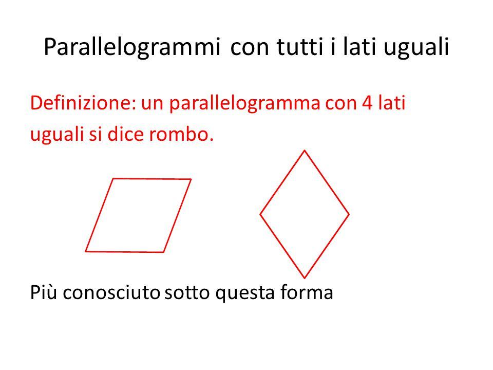 Parallelogrammi con tutti i lati uguali