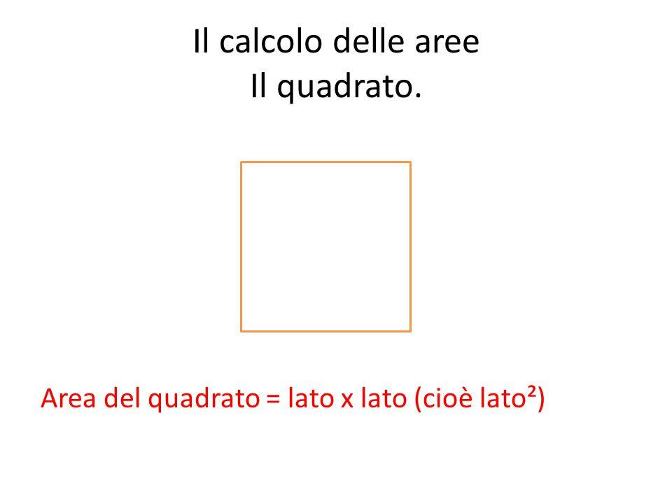 Il calcolo delle aree Il quadrato.