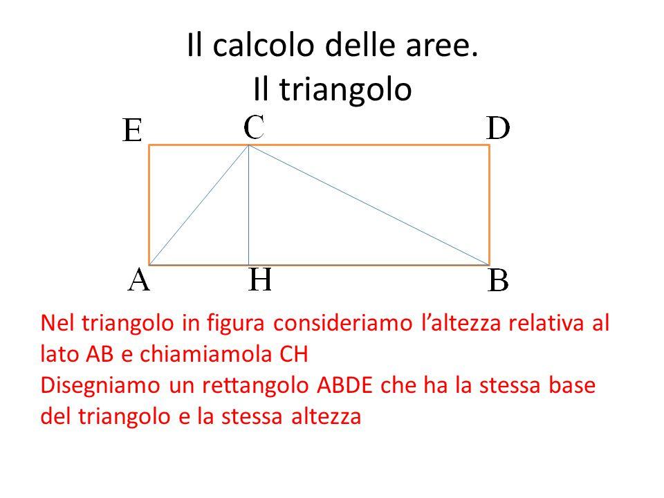 Il calcolo delle aree. Il triangolo