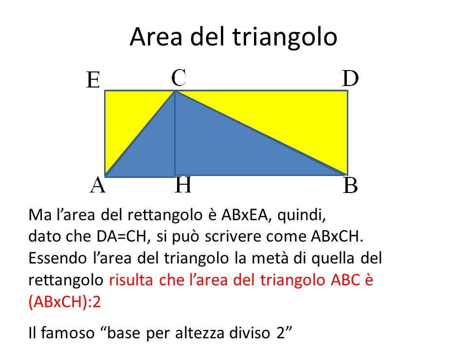 Area del triangolo