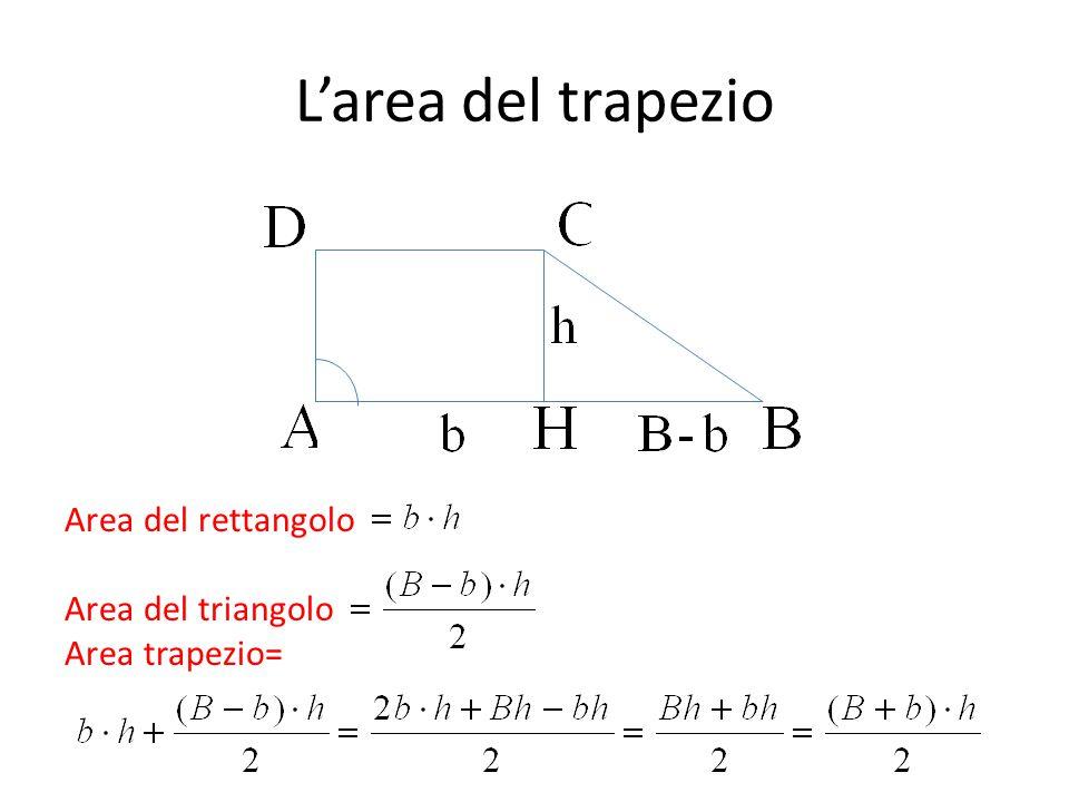 L'area del trapezio Area del rettangolo Area del triangolo Area trapezio=