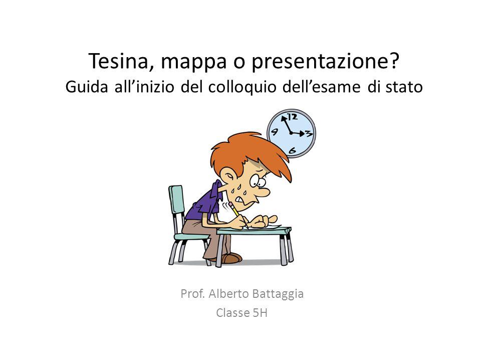 Prof. Alberto Battaggia Classe 5H