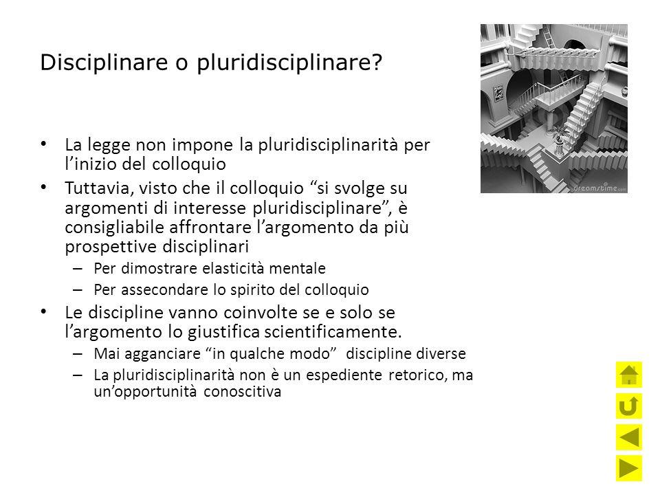 Disciplinare o pluridisciplinare