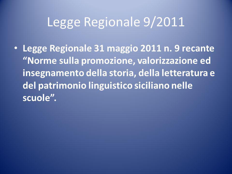 Legge Regionale 9/2011