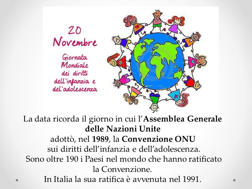La data ricorda il giorno in cui l'Assemblea Generale