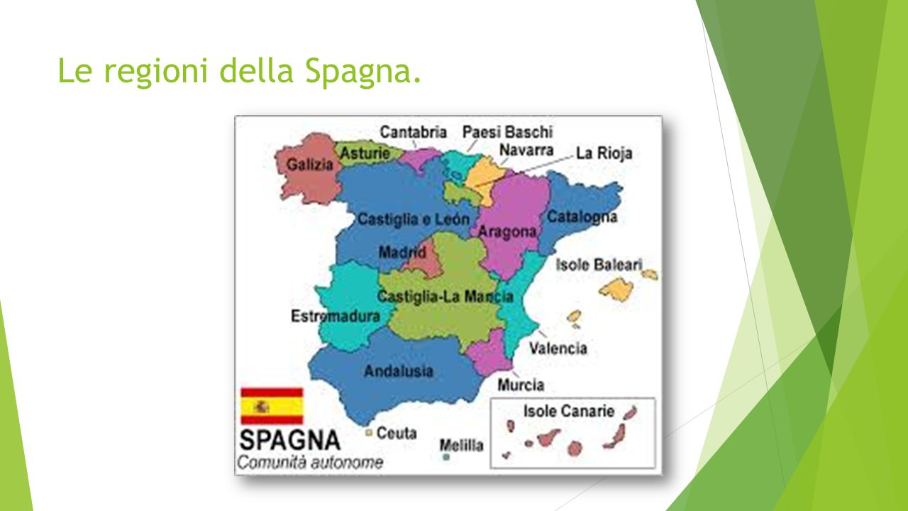 Le regioni della Spagna.