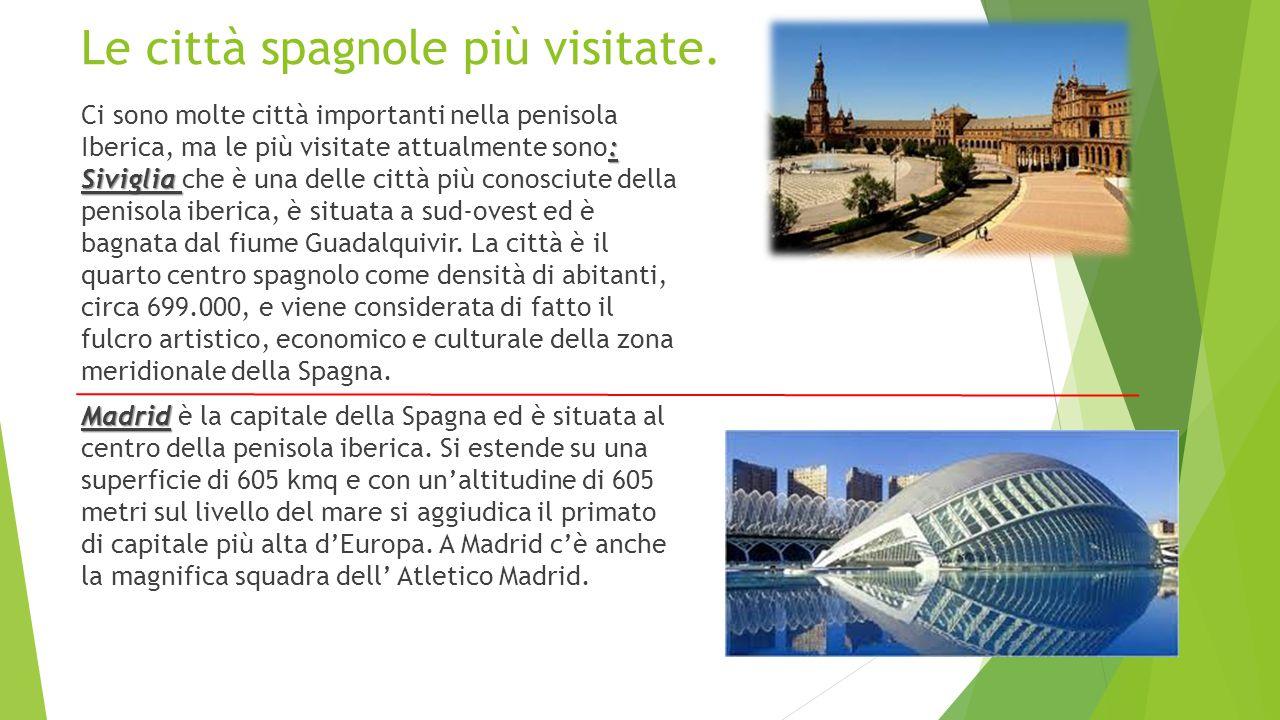 Le città spagnole più visitate.
