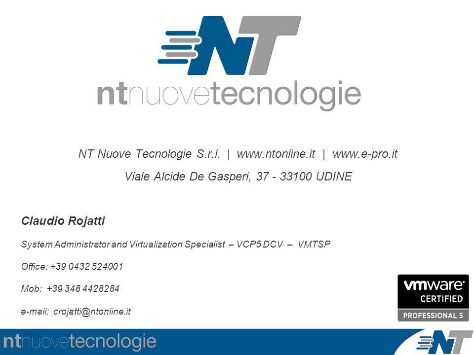 NT Nuove Tecnologie S.r.l. | www.ntonline.it | www.e-pro.it