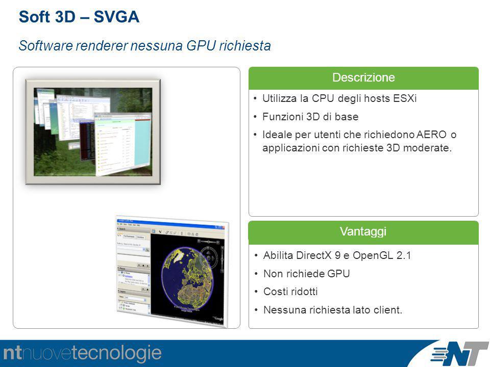 Soft 3D – SVGA Software renderer nessuna GPU richiesta Descrizione