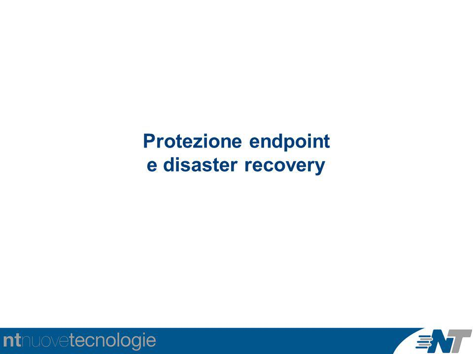 Protezione endpoint e disaster recovery