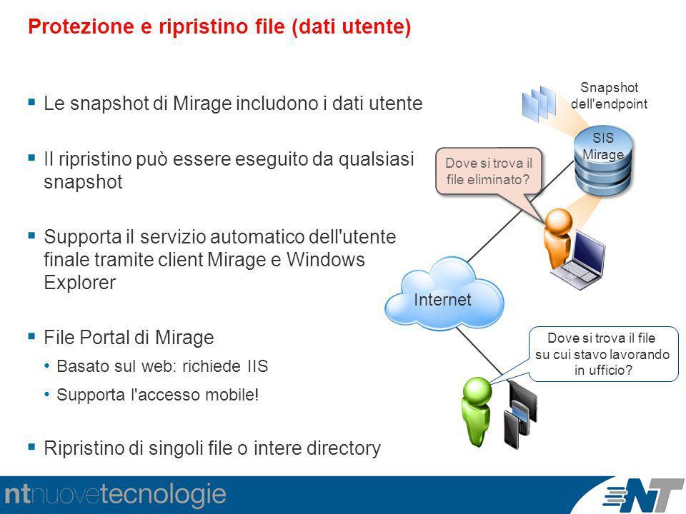 Protezione e ripristino file (dati utente)
