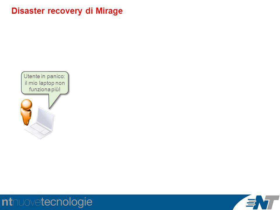 Disaster recovery di Mirage