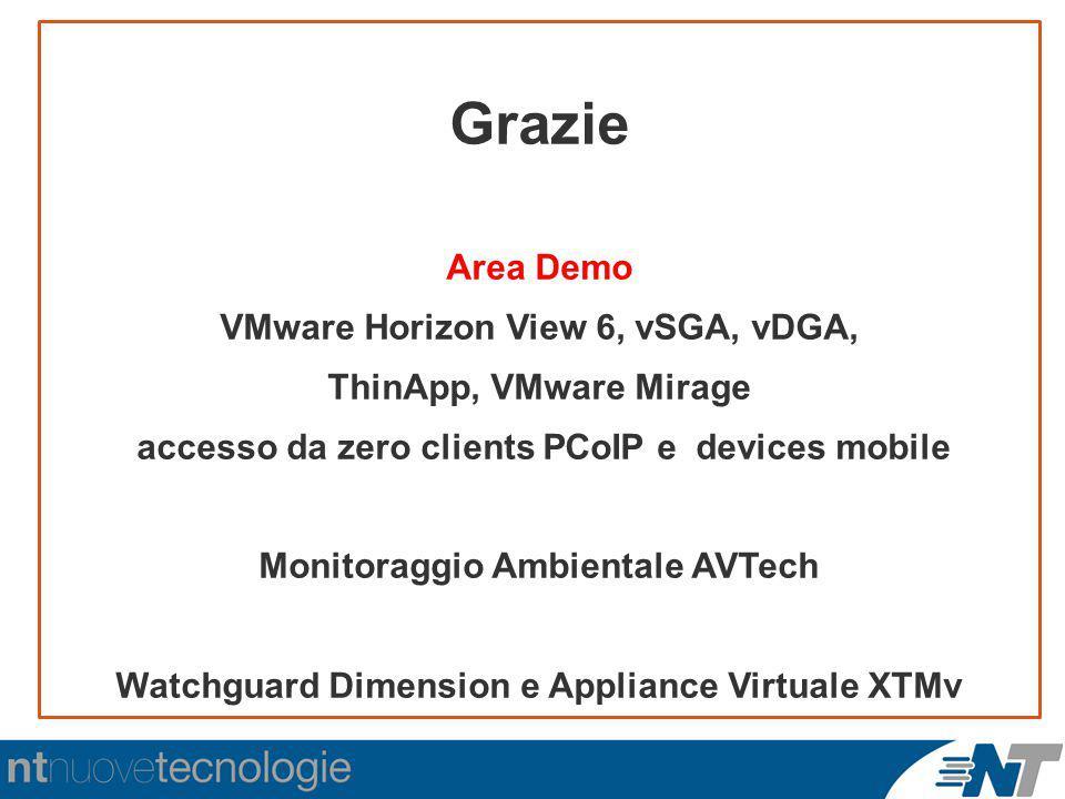Grazie Area Demo VMware Horizon View 6, vSGA, vDGA,