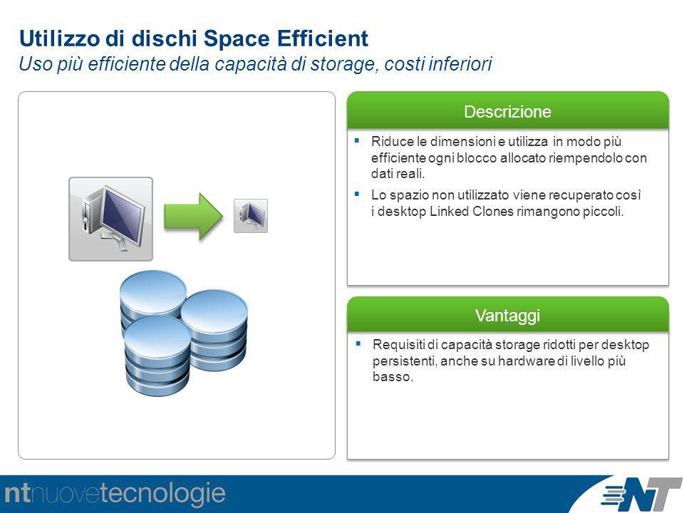 Utilizzo di dischi Space Efficient