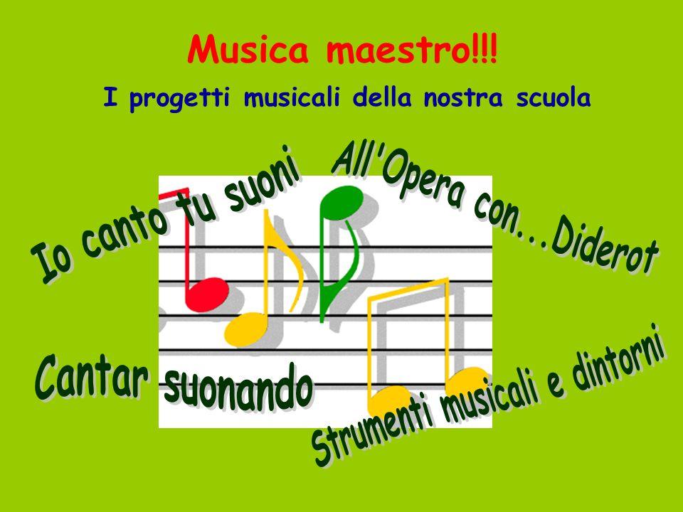 I progetti musicali della nostra scuola Strumenti musicali e dintorni