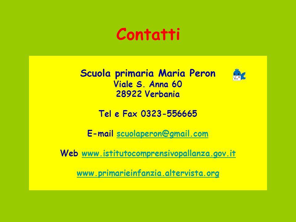 Scuola primaria Maria Peron E-mail scuolaperon@gmail.com
