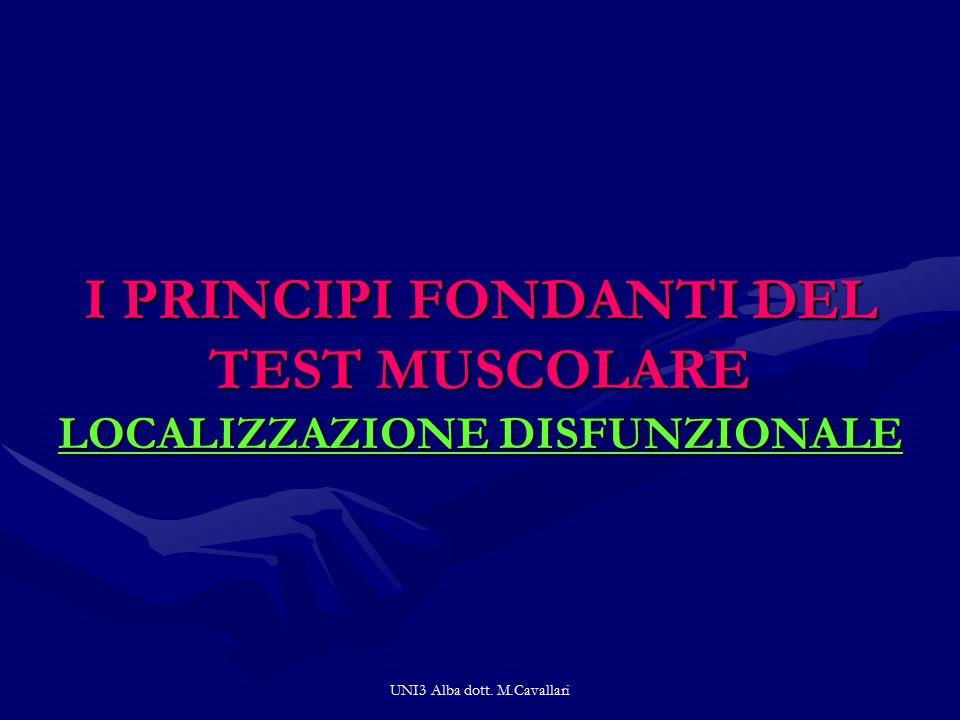 I PRINCIPI FONDANTI DEL TEST MUSCOLARE LOCALIZZAZIONE DISFUNZIONALE