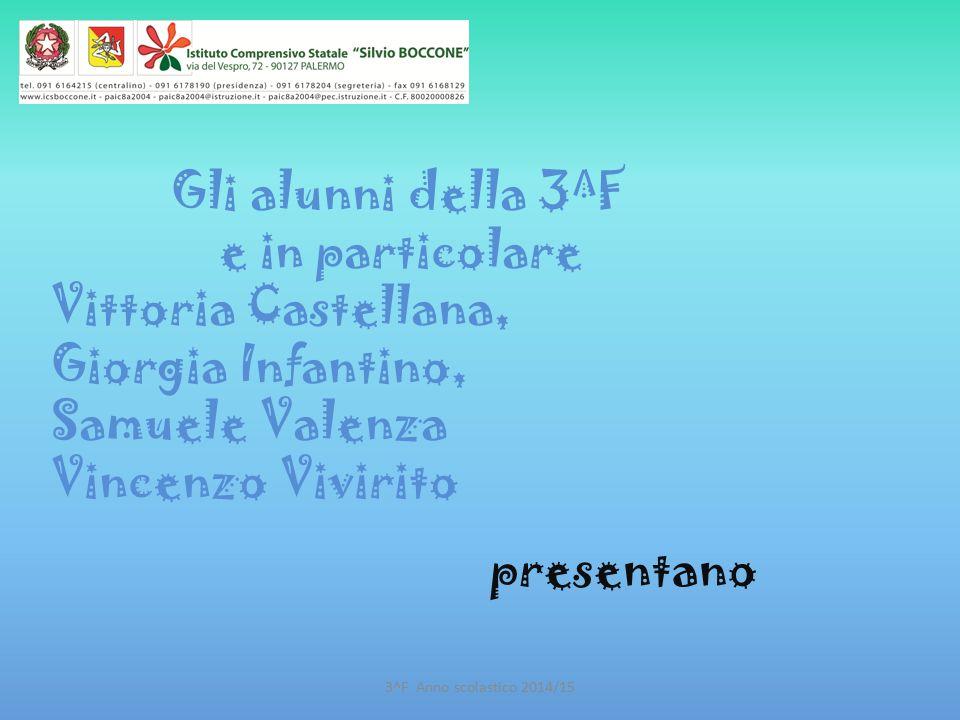 Gli alunni della 3^F e in particolare Vittoria Castellana, Giorgia Infantino, Samuele Valenza Vincenzo Vivirito
