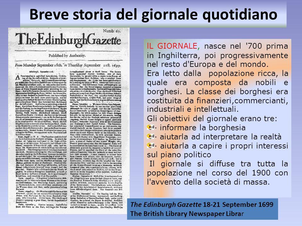 Breve storia del giornale quotidiano