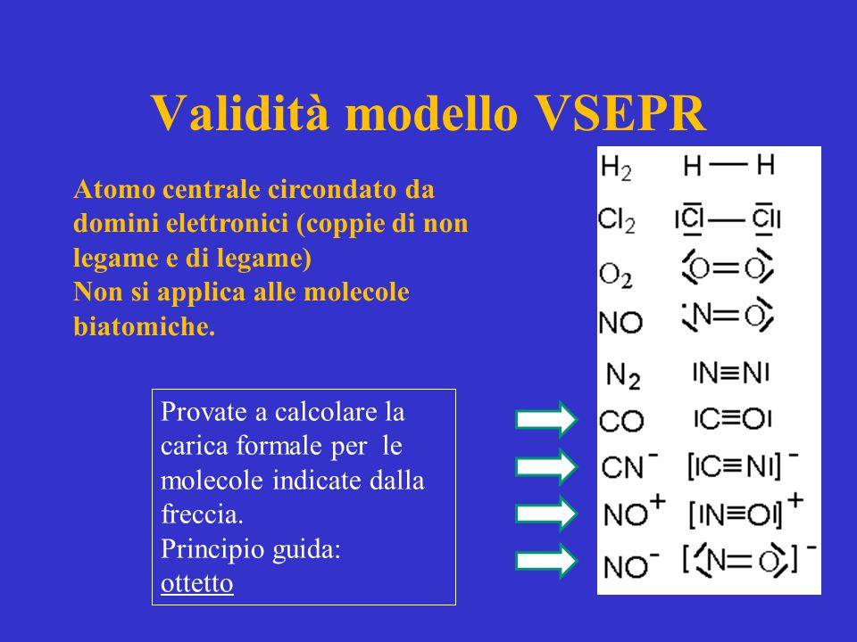 Validità modello VSEPR