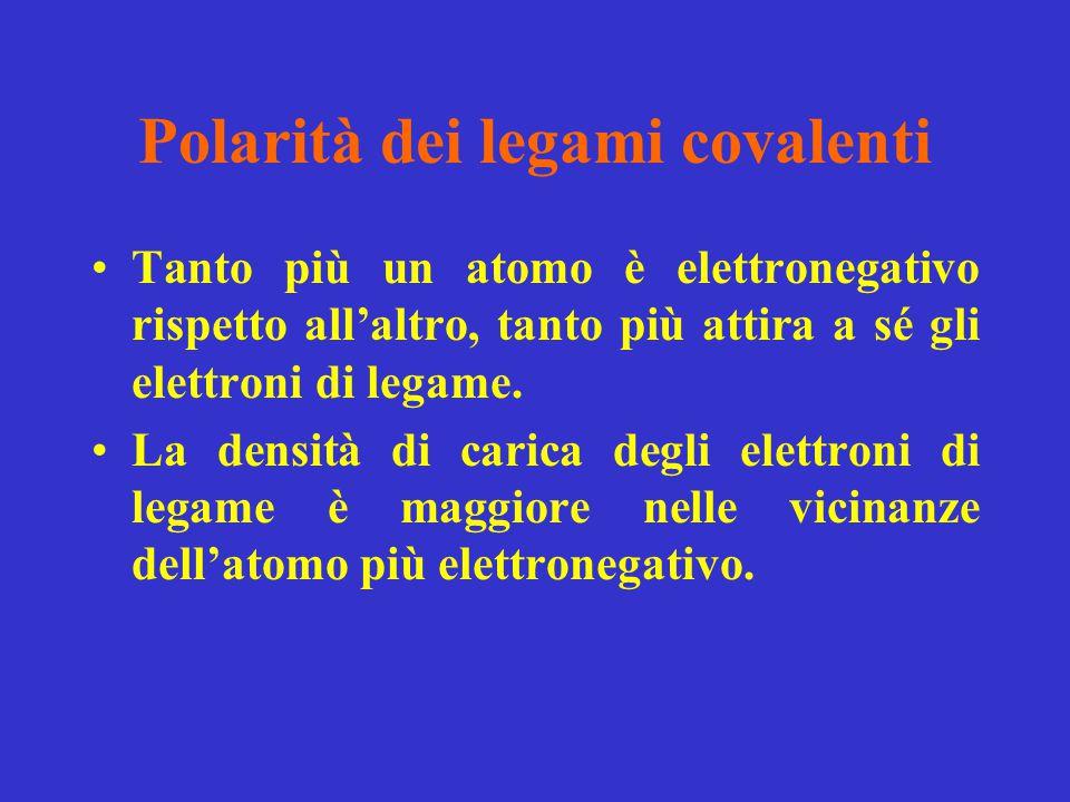 Polarità dei legami covalenti