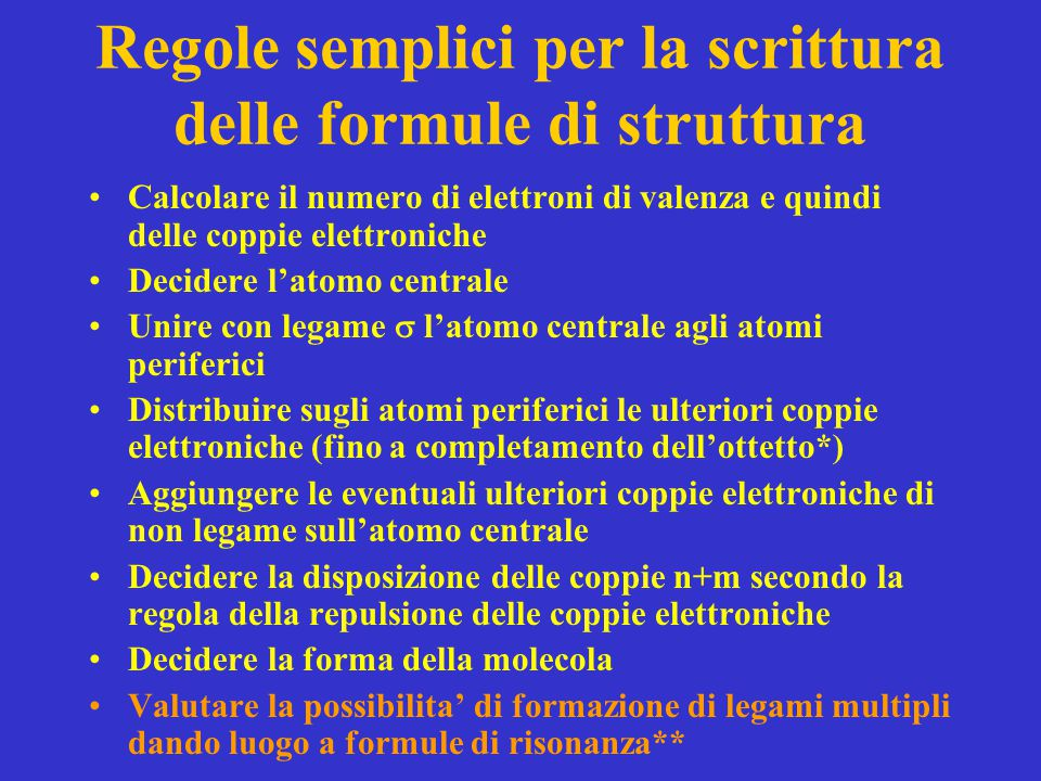 Regole semplici per la scrittura delle formule di struttura