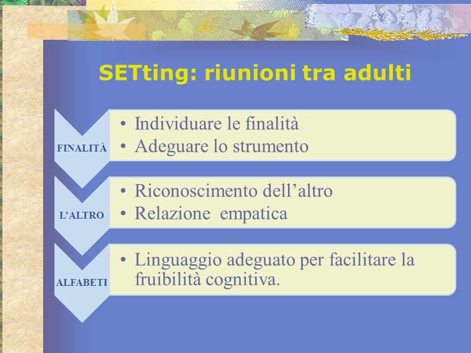 SETting: riunioni tra adulti