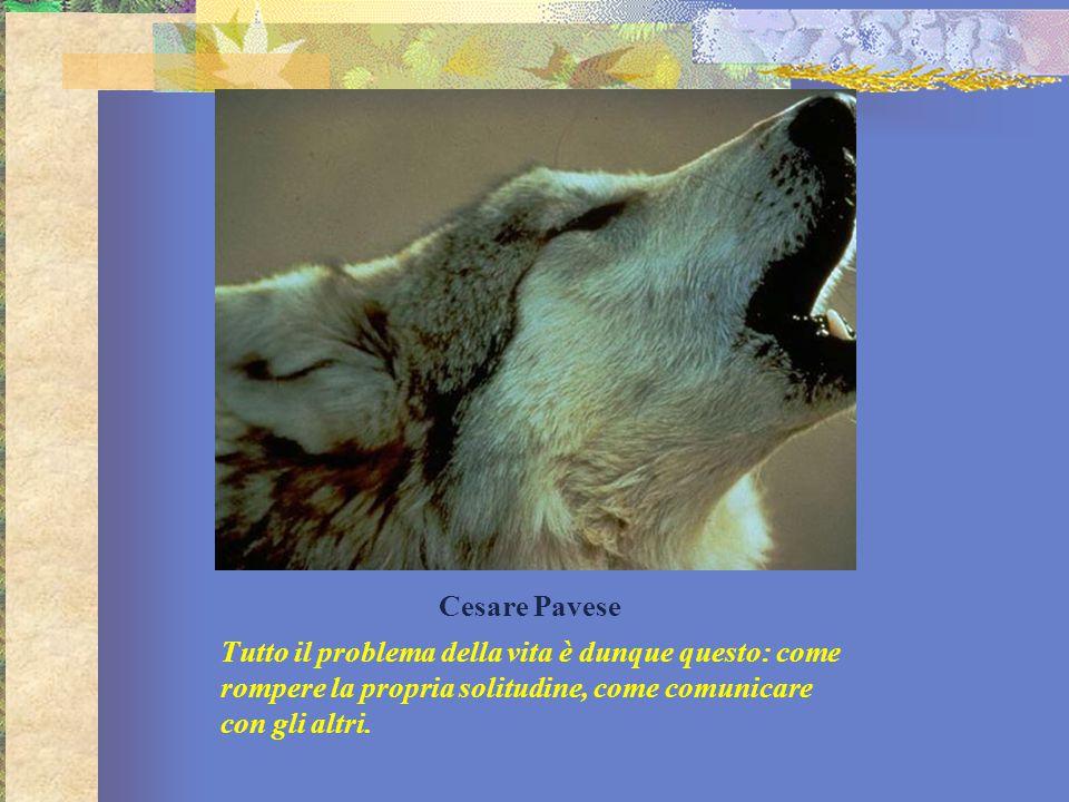 Cesare Pavese Tutto il problema della vita è dunque questo: come rompere la propria solitudine, come comunicare con gli altri.