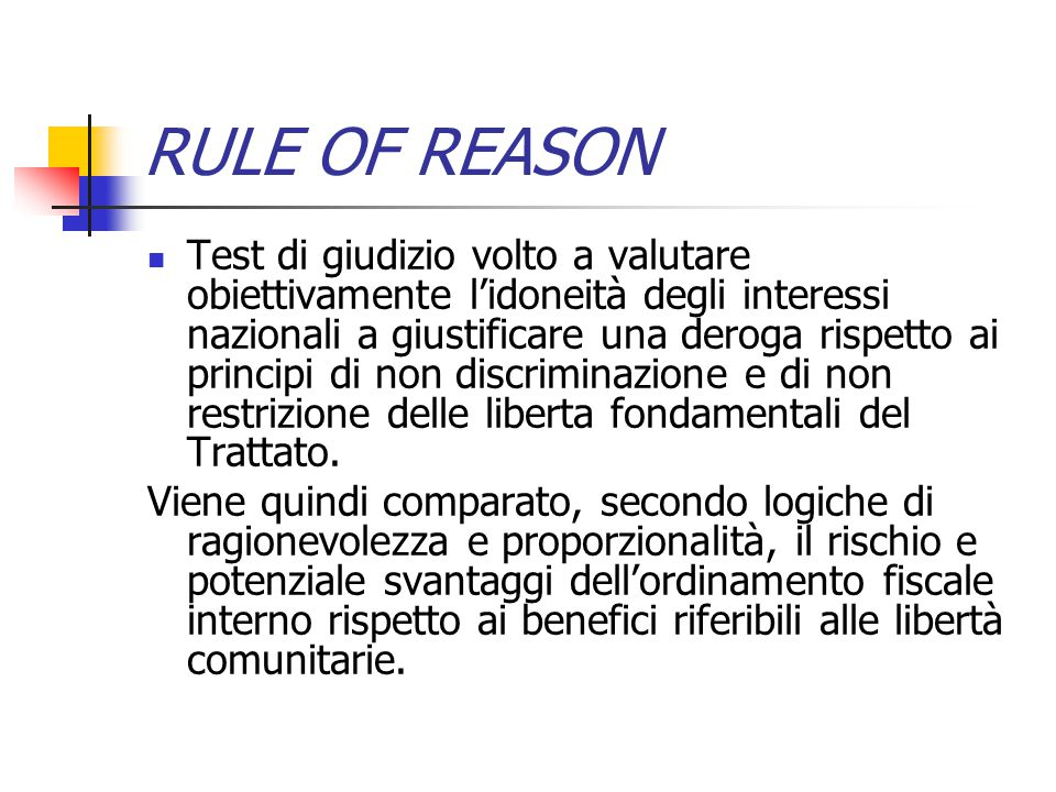 RULE OF REASON