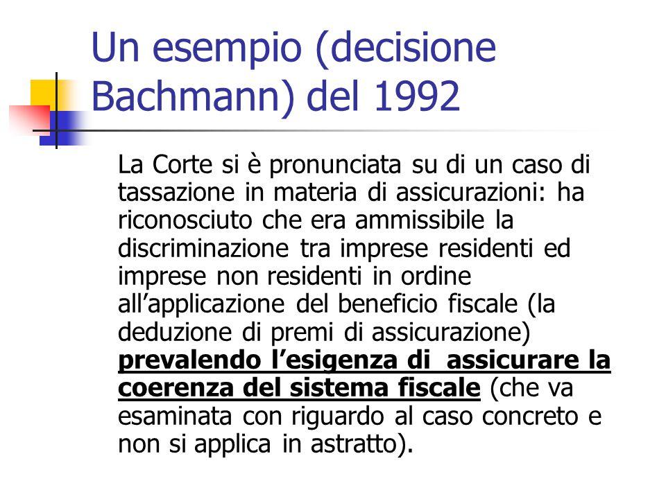 Un esempio (decisione Bachmann) del 1992