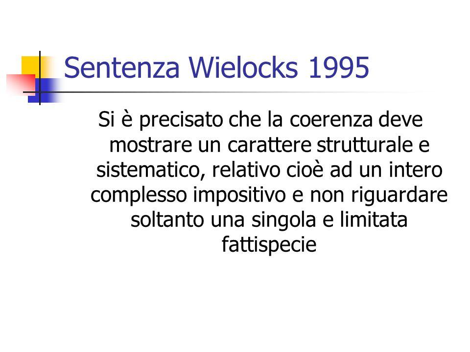 Sentenza Wielocks 1995