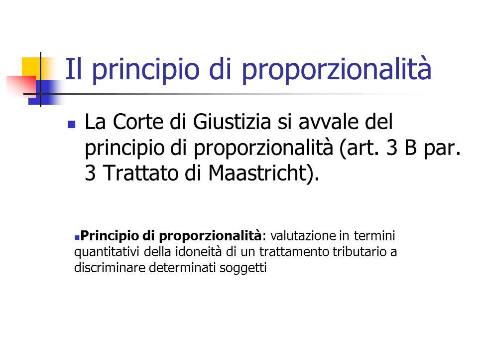 Il principio di proporzionalità