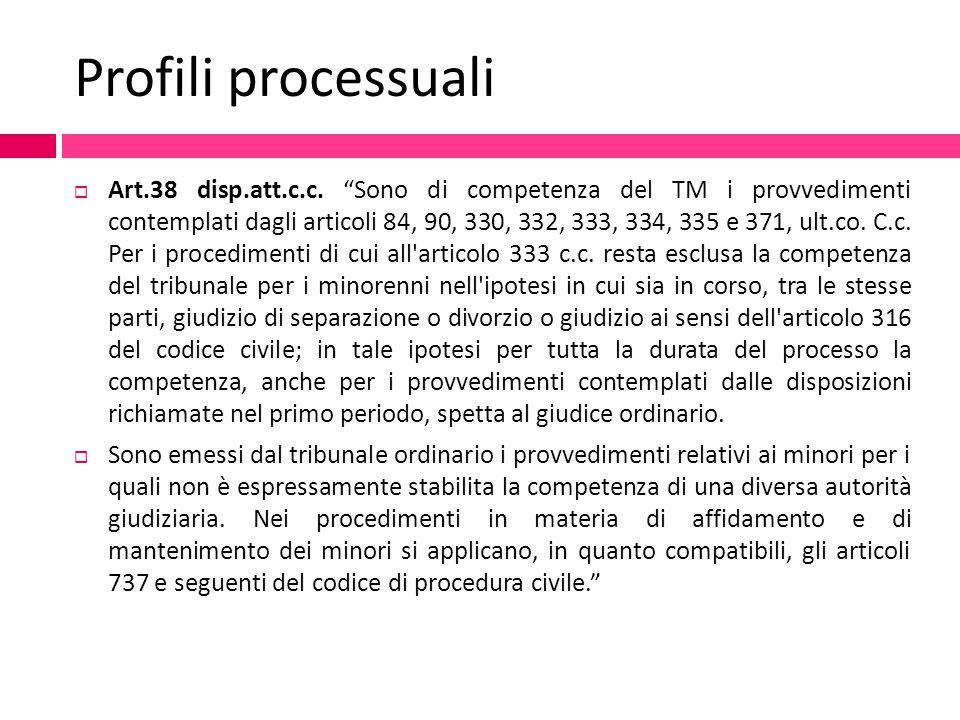 Profili processuali
