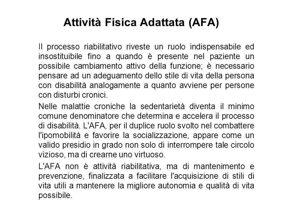 Attività Fisica Adattata (AFA)