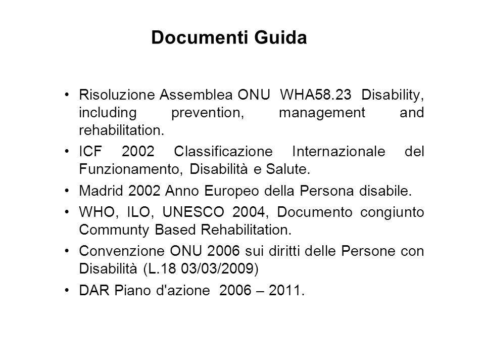 Documenti Guida Risoluzione Assemblea ONU WHA58.23 Disability, including prevention, management and rehabilitation.