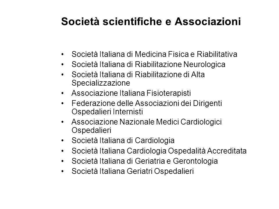 Società scientifiche e Associazioni