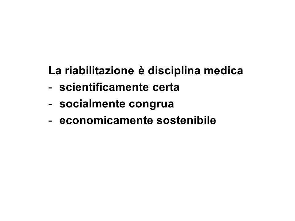 La riabilitazione è disciplina medica