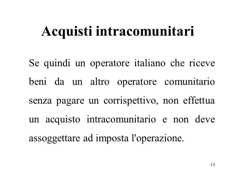 Acquisti intracomunitari
