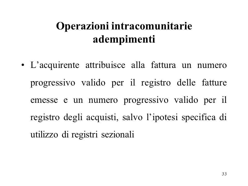 Operazioni intracomunitarie adempimenti